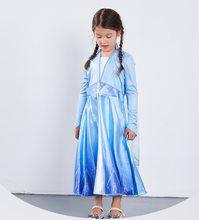 2019 HOT Frozen 2 Fancy Dress Customize Anna Elsa Cute Girl Party Christmas Snow Queen Anna Elsa Princess Cosplay Costume(China)