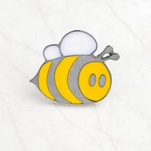 Là Loại Ong Tráng Men Pin Khó Thu Thập Mật Ong Thổ Cẩm Tử Tế Loài Côn Trùng Ve Áo Chân Phù Hiệu Áo Sơ Mi Ba Lô Món Quà Trang Sức chân(China)