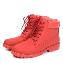 Winter laarzen vrouwen schoenen 2019 warm bont pluche sneakers vrouwen snowboots vrouwen lace-up enkellaarsjes winter schoenen vrouw botas mujer(China)