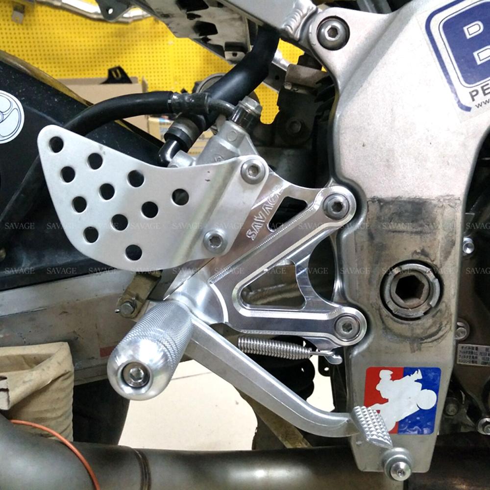 Bike-It Silver Anodised Footpegs For Kawasaki 2003 ZX6RR K1