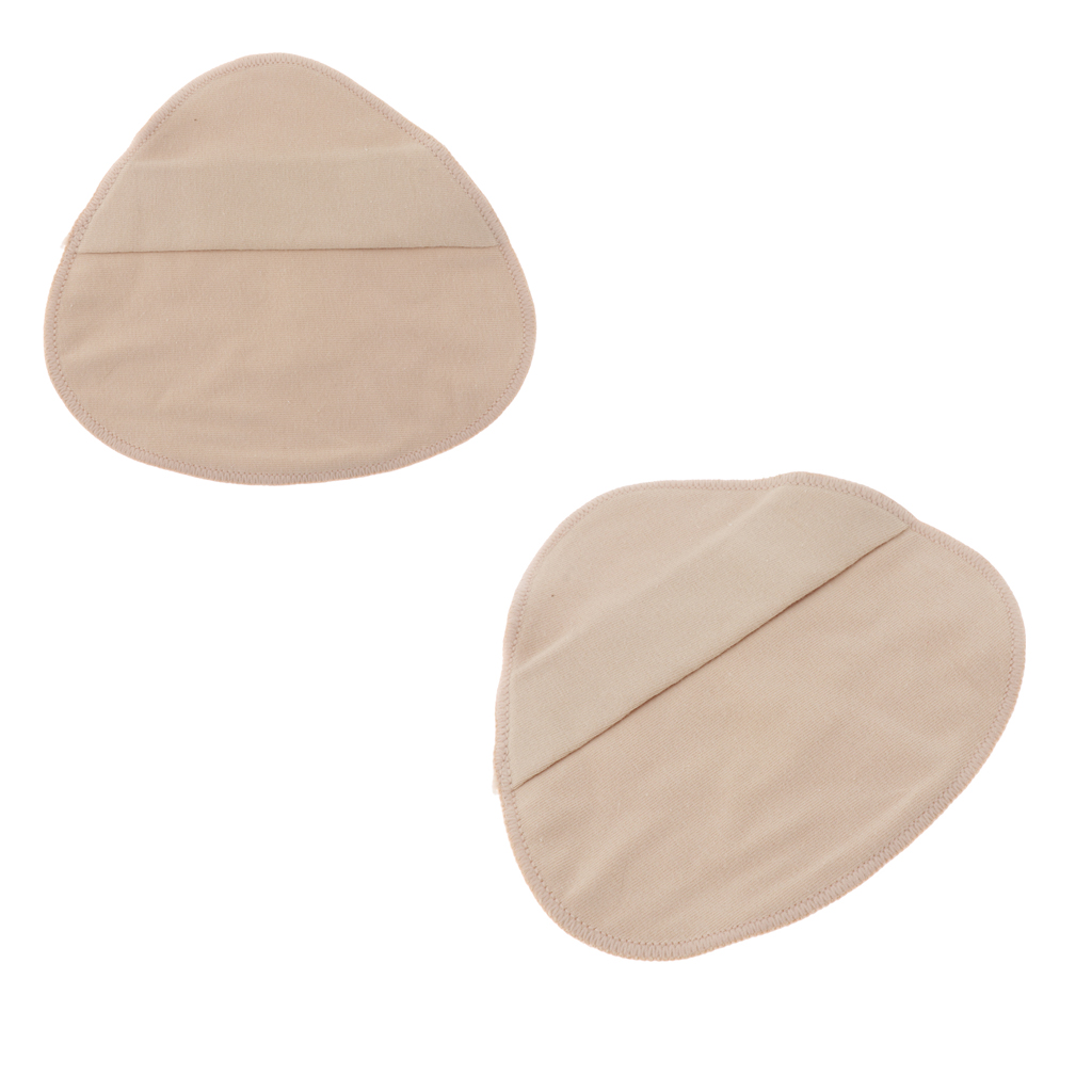 2 Pieces Cotton Protect Pocket for Mastectomy Silicone Breast Forms Prosthesis Artificial Fake Boobs Cover Bags