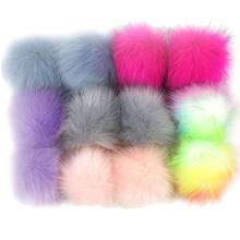 12 pçs fofo de pelúcia pom pom bolas com laço elástico ornamento diy para tricô chapéu chaveiro cachecol luva saco decoração acessórios(China)