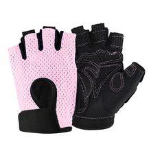 חצי אצבע כושר כפפות סיליקון אנטי להחליק לנשימה אימון כפפות cykling כפפות wielren handschoenen T #(China)