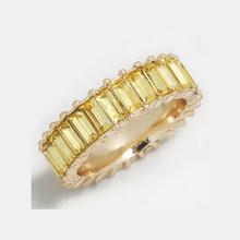 14 Màu Bạc Sterling 925 Vàng Mỏng Nhẫn Bạc Dòng Micro Pave CZ Vĩnh Cửu Ngăn Xếp Bạc Rainbow CZ Nhẫn N(China)