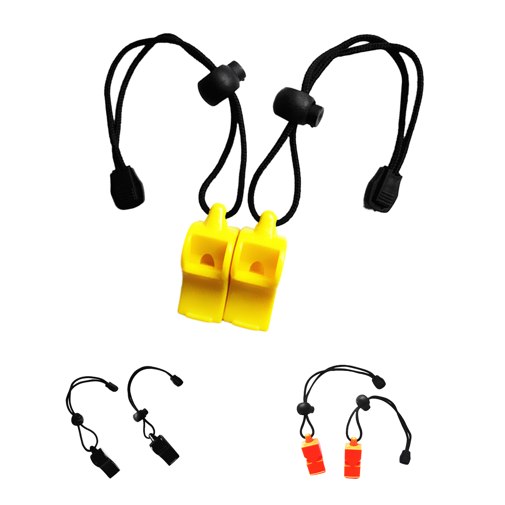 2 Pieces Safety Emergency Whistle Survival Signal Gear Tool for Outdoor Camping Hiking Scuba Diving Marine Boat Rafting Hunting