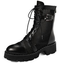 Doratasia 2020 en kaliteli kare topuklu büyük boy 43 hakiki deri kadın ayakkabı cilt yaz çizmeler kadın(China)