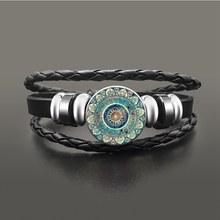 SUTEYI קסם המנדלה אמנות תמונה עגילי חינה קריסטל עגיל יוגה Om סמל זן בודהיזם זכוכית עגילים לנשים תכשיטים(China)