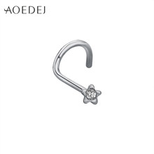 AOEDEJ 1PC גולגולת האף Stud 20G פירסינג עלה זהב האף פירסינג נחיר עגיל בשר פירסינג גוף תכשיטים(China)