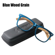 SOOLALA de gran tamaño de bambú de madera gafas de lectura de marco completo de los hombres de la presbicia de la Lente de la presbicia de vidrio de lectura Marco de gafas para hombres(China)