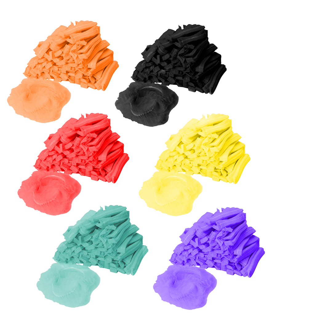 100x Disposable Mob Cap Non Woven Anti Dust Hat Head Cover Food Catering Kitchen Disposable Cap hair Protective Catering