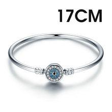 BISAER 925 Sterling Zilver Pulseira Sneeuwvlok Armbanden 925 Hart Snake Chain Sluiting femme Zilveren armband voor Vrouwen Sieraden(China)