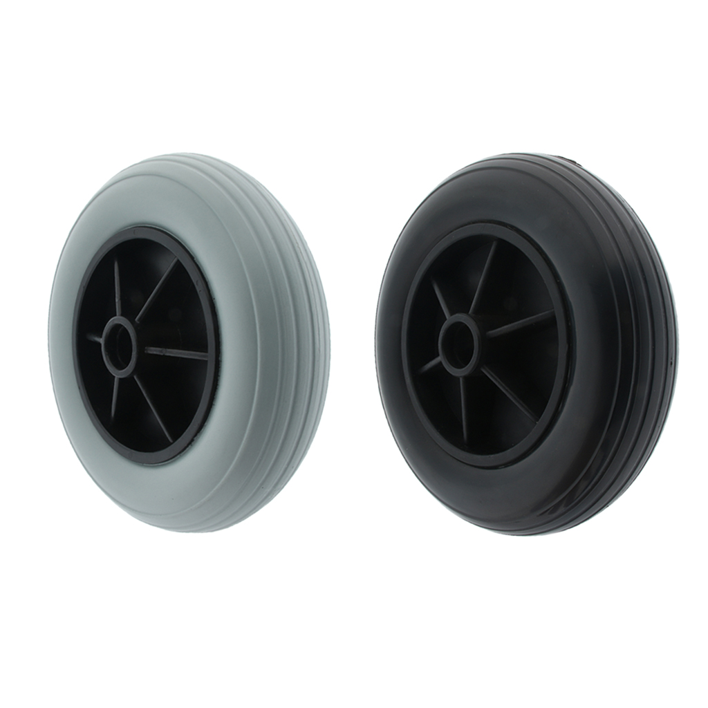 High Quality 8 inch Inflatable Front Wheelchair Caster Wheel Solid PU Small Tyre for Elderly Disabled Patients