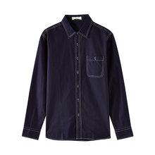 Metersbonwe Merk Mannen Nieuwe Casual Shirts 2019 Lente Herfst Mannelijke Slanke Lange Mouwen shirts reguliere Katoen Mannelijke Tiener tops(China)