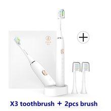 SOOCAS X3 Sonic Bàn Chải Đánh Răng Điện Xiaomi Mijia Bàn Chải Răng Siêu Sonic Tự Động Nâng Cấp USB có thể sạc Người Lớn Chống Nước IPX7(China)
