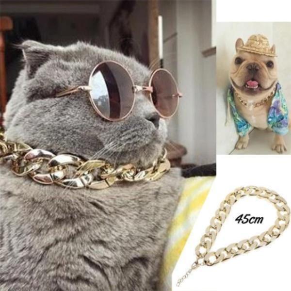 Lightweight Cat Jewelry Chain Cat Collar Medium Cuban Link Cat Necklace