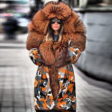 KANCOOLD manteaux femmes fourrure floue Camouflage sweat à capuche chaud hiver veste coupe-vent vêtements d'extérieur épais mode nouveau manteau femmes 2019NOV21(China)