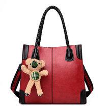 Senhoras da moda tote sacos de mão bonito urso pingente mulheres sacos de ombro alta qualidade sacos crossbody para as mulheres 2019 bolsas de mujer(China)