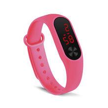 Homem e mulher com a mesma pulseira led relógio esportivo moda relógio eletrônico simples temperamento reloj deportivo para mujer 03(China)