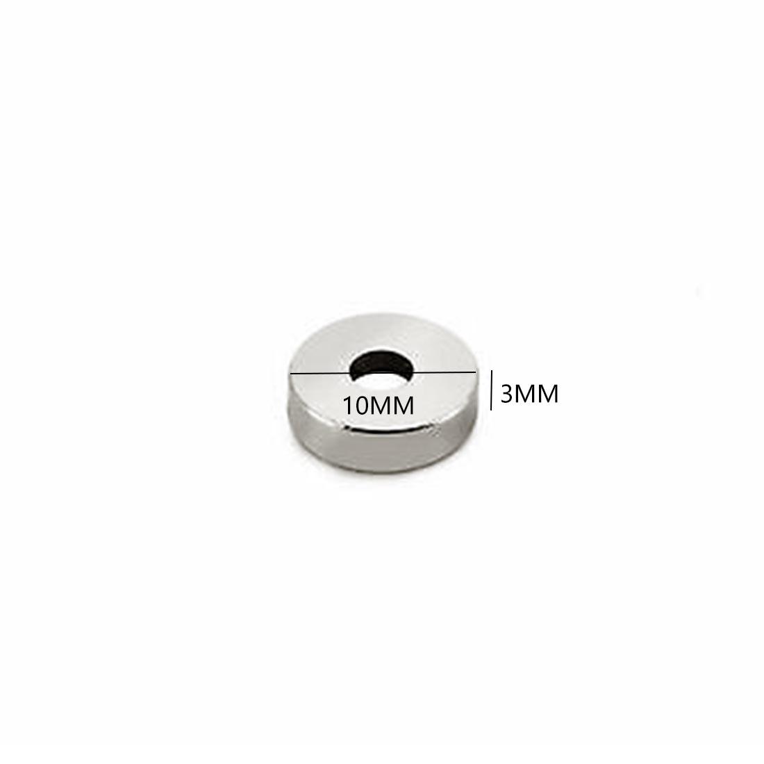 10/20 Вт 30 50 шт. 10 мм x 3 отверстие N35 NdFeB неодимовое кольцо магнитные установки 10x3