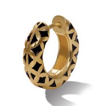 Najlepsza pani Boho szkło kryształowe kolczyki Hoop dla kobiet etniczne wielokolorowy prezent ślubny Metal kolorowy obraz BA kolczyk biżuteria nowy(China)
