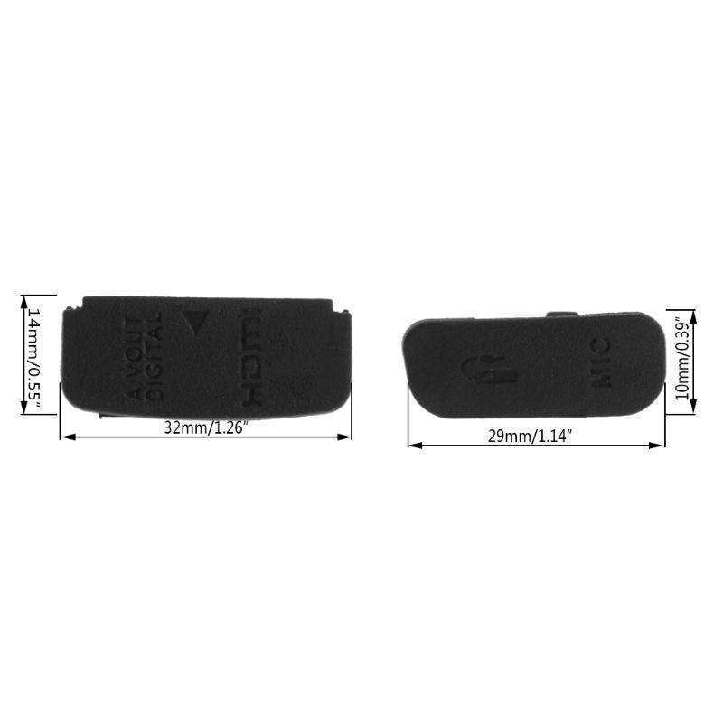 Goma Cuerpo USB Tapa Tapón para Canon EOS 50D Cámara Digital Pieza De Reparación