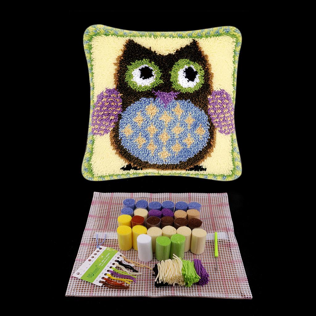 Latch Hook Kit - Pillows Case Making Kit - DIY Home Ornaments