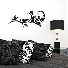 דבק מודרני גיאומטרי חדר דקור רוז פרח קיר אמנות מדבקת מודרני גיאומטרי נשלף ויניל קיר מדבקות בעבודת יד WX303(China)
