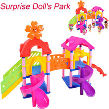 Baby toys Princess Doll Park House Game Big Slide Playset Gift Toy for LOL Surprise Doll Children Developmental Educational Toys(China)