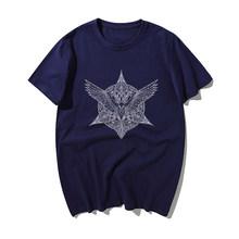 אודין ויקינג נשר Tshirt גברים טלוויזיה להראות ויקינגים T חולצה בציר קיץ 100% כותנה קצר שרוול חולצת טי היפ הופ Harajuku streetwear(China)