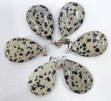 Naturale Cristallo di Quarzo pietra lapis Opale Turchesi occhio di tigre del pendente di goccia dell'acqua per il fai da te Monili che fanno la collana Accessories24PCs(China)