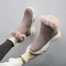 Moipheng حذاء من الجلد للنساء الشتاء عالية أعلى الأحذية البقر المدبوغ جولة تو زيبر طالب حذاء مسطح أسود بوتاس موهير Invierno(China)