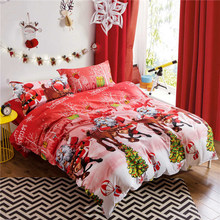 3D Christmas Bedding Sets 4pcs Bedclothes Queen/Twin/King Size Bedding Sets Duvet Cover+Bed Sheet+2Pillowcases Christmas Decor(China)