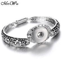 2019 nowy kolorowe na zatrzask magnetyczny bransoletka bransoletka Fit 20MM 18 przyciski zatrzaskowe MM biżuteria Metal srebrny przystawki przycisk bransoletka dla kobiet(China)