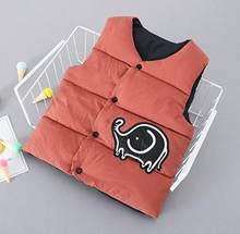2019 mùa thu đông Bé Gái Áo mới cotton trẻ em áo vest họa tiết hoạt hình dễ thương in hình cho bé con bé áo vest(China)