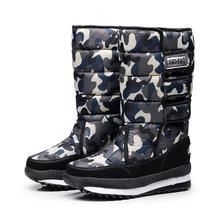 Frauen schnee stiefel plattform winter stiefel dicken plüsch wasserdicht nicht-slip stiefel mode frauen winter warm pelz botas mujer(China)