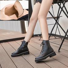 AIYUQI Martin Stivali Femminile Autunno 2019 Nuovo delle Donne del Cuoio Genuino Stivaletti Lace Up Bianco di inverno delle donne scarpe(China)