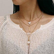 Wielowarstwowe złota moneta Choker naszyjnik dla kobiet okrągłe kryształowe gwiazdy wisiorek łańcuch naszyjniki wisiorki Chokers biżuteria(China)