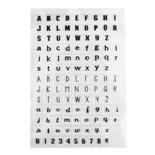 Inglês carta de silicone transparente transparente selo letras padrão selo diy alphab scrapbooking álbum diário artesanato decoração(China)