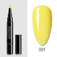 NICOLE DIARY 3 в 1 Гелевый лак для ногтей ручка Блестящий одношаговый Гель-лак для нейл-арта Гибридный 72 цвета простой в использовании УФ-Гель-лак ж...(China)