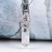 SEDmart Handmade 7Chakra naturalne/Rainbow kamień drzewo życia wisiorek naszyjnik dla kobiet mężczyzn długi łańcuch komunikat biżuteria prezent(China)