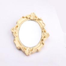 Aomu 2020 Chic Vintage Rose Fiore Geometrica Irregolare Metallo Dorato Spille per Le Donne Specchio Magico Del Partito Dei Monili Spilli(China)