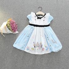 Disney Crianças Vestidos para Meninas Branca de Neve Princesa Traje Vestido de Festa de Natal Das Bruxas Cosplay Roupas Crianças 2019 Novo(China)