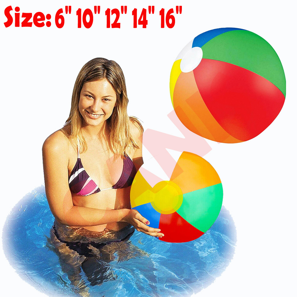 Party Swimming 20in Beach Ball Inflatable Blow up Panel for Fun Holiday