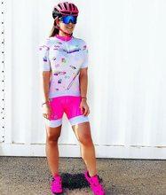 Wanita Triathlon Suit Pakaian Bersepeda Skinsuits Tubuh Set Berwarna Merah Muda Roupa De Ciclismo Feminino Rompers Wanita Jumpsuit Triatlon Kit(China)
