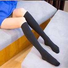 Kalın Termal Çorap Kadın Kış Siyah Deri Diz Boyu Çizme Polar Sıcak Ince Uzun Çorap(China)