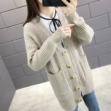5160 (1 место № 1) новый абзац однобортный рост в осенней одежде кардиган свитер платье карман 58(China)