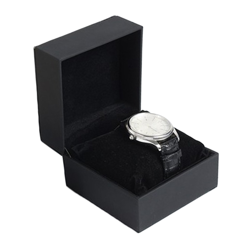 PU Leather Leather Single Slot Watch Box Case Organizer for Clock Watches Jewelry Boxes Case Display best gift