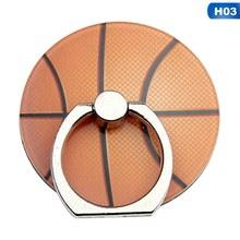 2019 nuevo baloncesto creativo giratorio, fútbol, tenis, soporte de anillo de teléfono móvil de acrílico de rugby para iPhone6s 7 8p Xs max Xr(China)