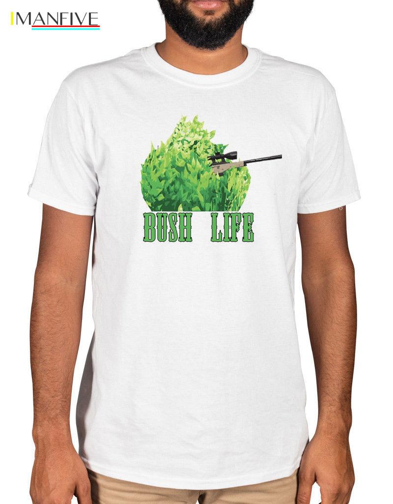 Bush Life Fort T-Shirt Sniper Mythic Battle Royale Camping Ninja Victory #1 Free shipping Harajuku Tops t shirt Fashion