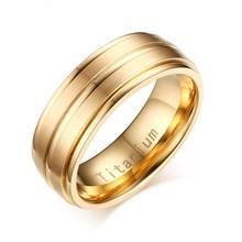 Meaeguet Cổ Điển Màu Đen Titan 100% Carbide Nhẫn Cưới Cho Nam 3 Đường Rộng 8MM Đính Hôn Anel Trang Sức(China)